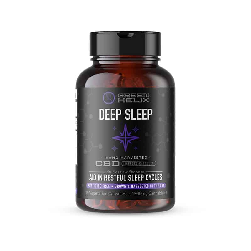 Deep Sleep CBD Capsules Green Helix