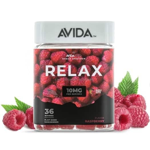 Avida Raspberry Relax CBD Gummies