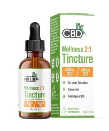 CBD FX Wellness CBD + CBG 2:1 Oil Tincture