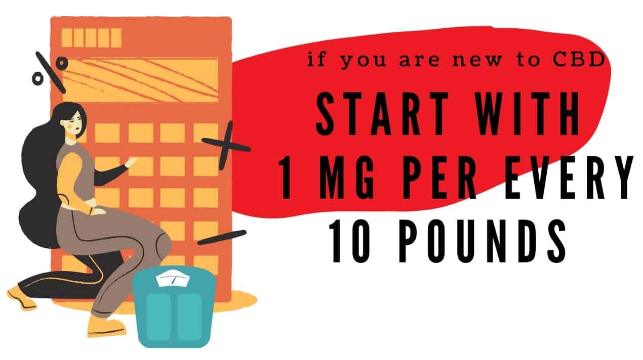 CBD dosage guide for newbies