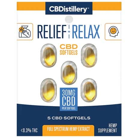 CBDistillery Full Spectrum CBD Softgels 5 count