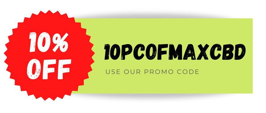 MAXCbd Promo code CBD discount
