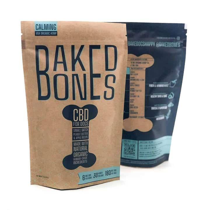 Amberwing Organics CBD for dogs Baked bones