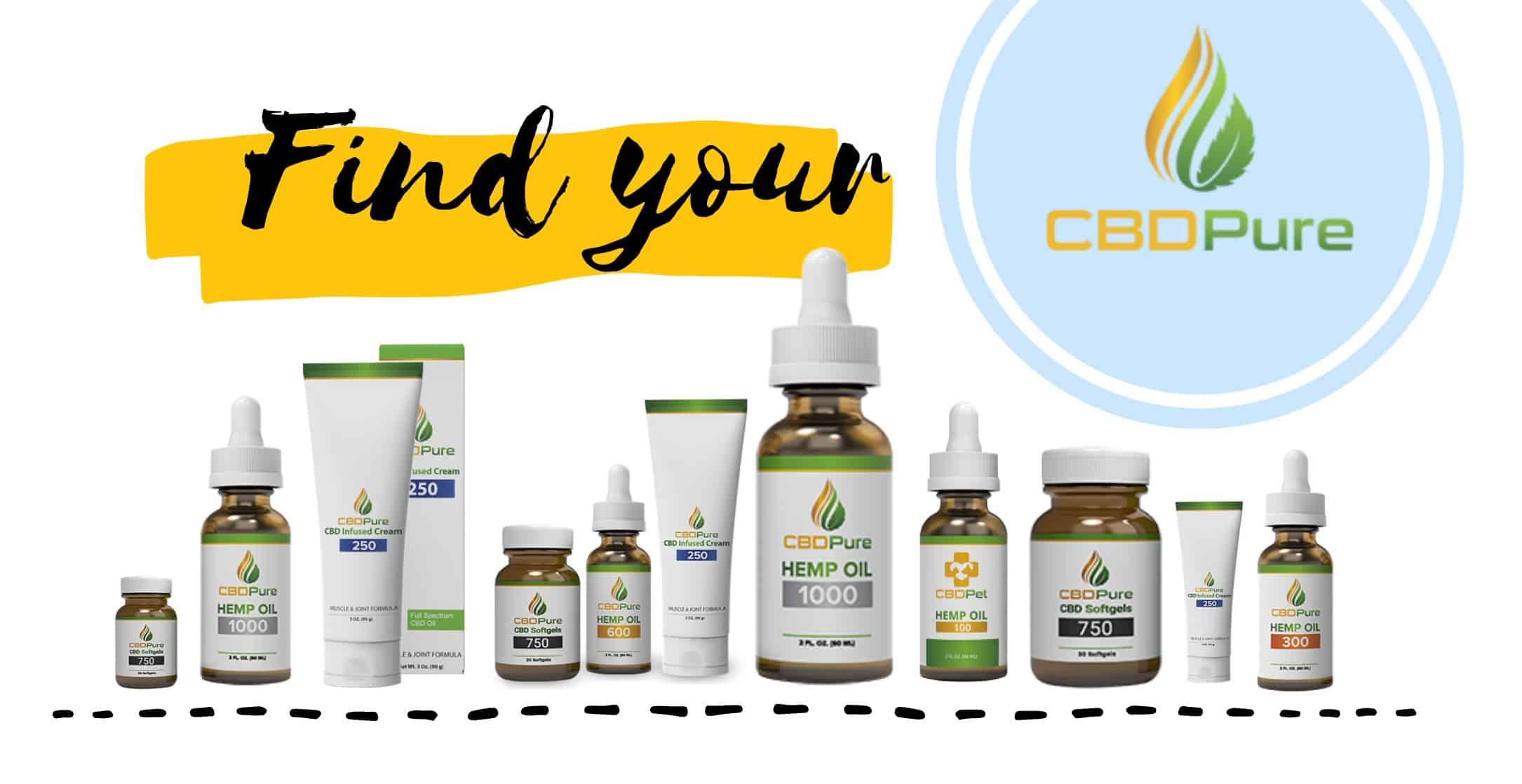 CBDPure CBD products