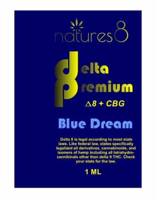Natures8 Delta 8 +CBG Vape Cartridge