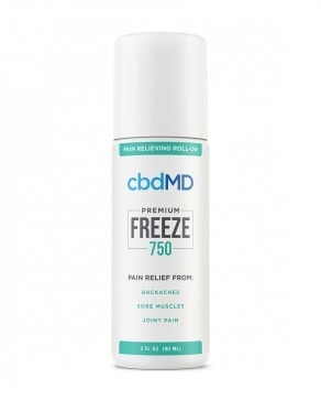 cbdmd cbd freeze roll on 750mg