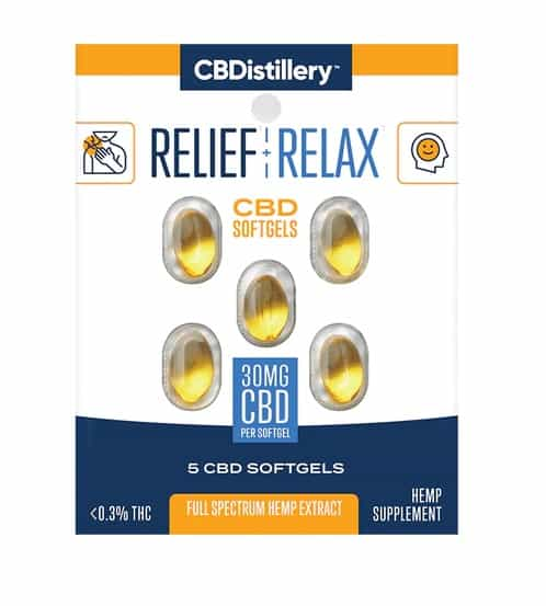 CBDistillery Trial Travel CBD Softgels