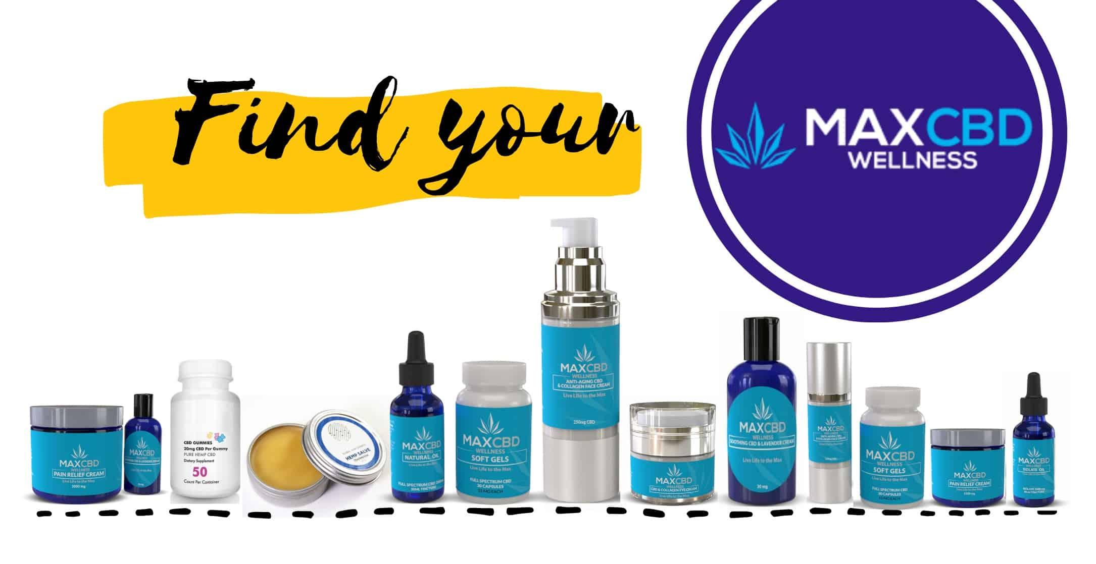 Find your MaxCBD CBD product