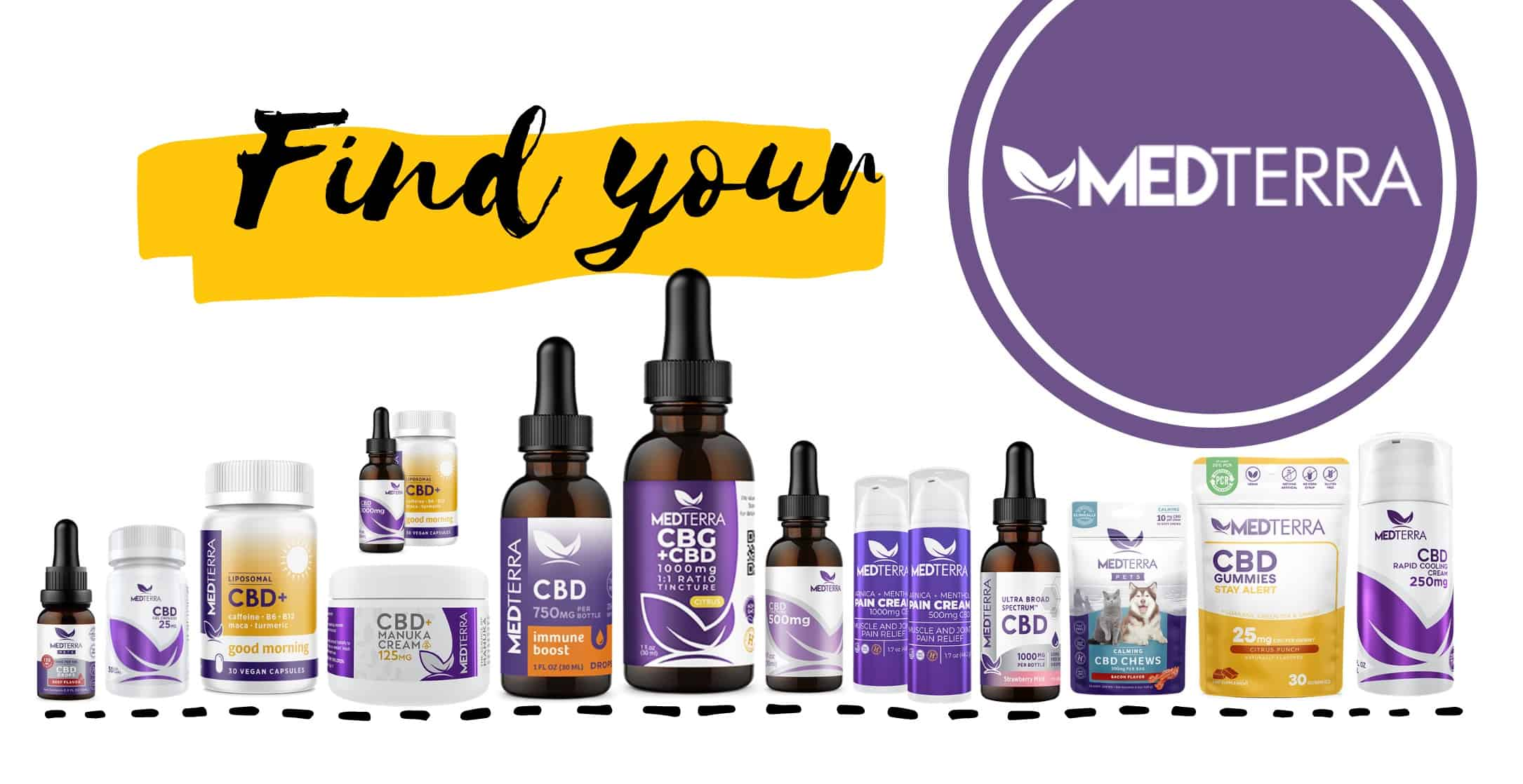 Find your Medterra CBD product