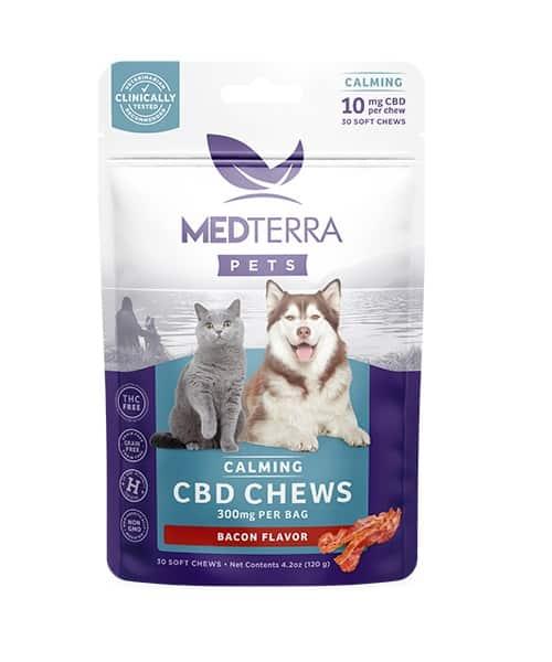 Medterra cbd pets chews calming bacon