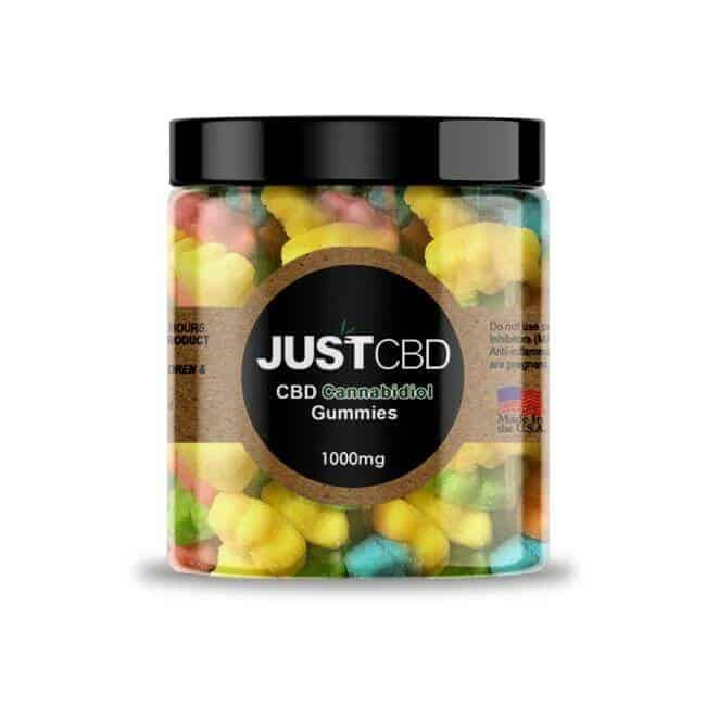 JustCBD CBD Gummies sour bears