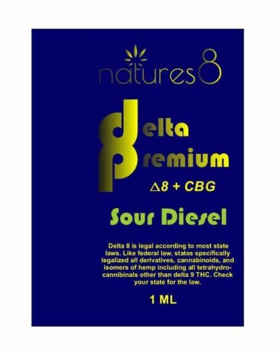 Natures8 Delta 8 + CBG Vape Cart